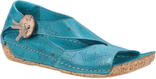 Riva Arlo Leather Sandal Ladies Summer Turquoise